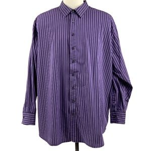 Synrgy Shirt 4XLT Long Sleeve Contrast Cuff Purple